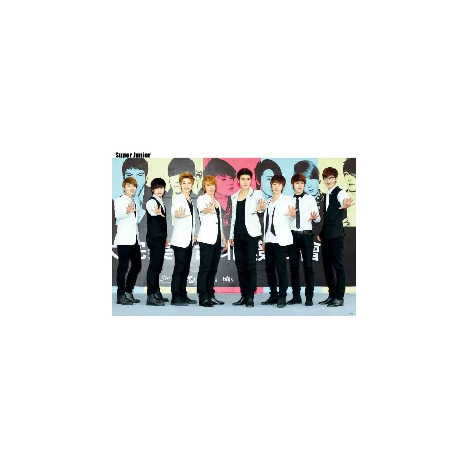 Super Junior colorful Warholesque POSTER 34 x 23.5 Superjunior SuJu Korean Boy Band Kyuhyun Siwon (poster sent from USA in PVC pipe)