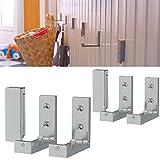 Set of 6 Folding Hooks , Multi Use , Durable Aluminum Material