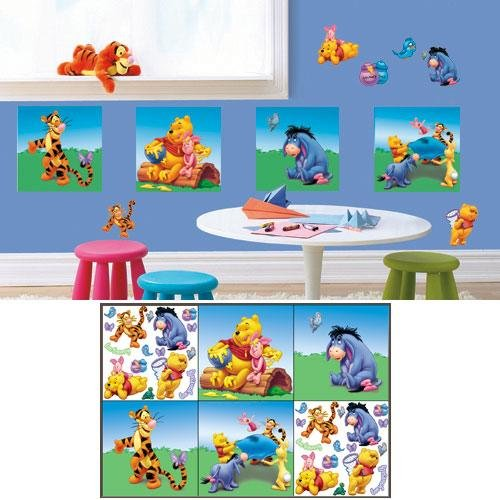 Winnie the Pooh Decorating Self Stick Decorating Kit. - 1