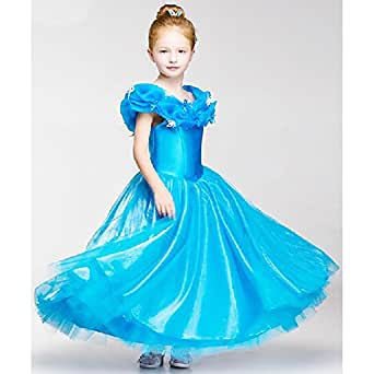 Faermi Girls 2015 New Cinderella Dress Princess Costume Butterfly