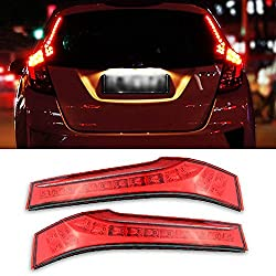 See iJDMTOY (2) Direct Replacement Matching Red Lens 14-LED Lights Rear Side Pillar Tail Brake Lamps For 2015-up Honda FIT Details