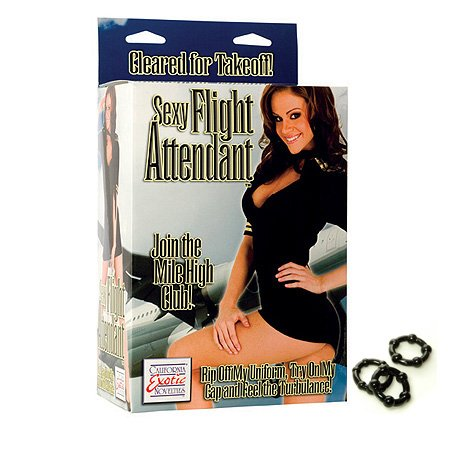California Exotics / Swedish Erotica Sexy Flight Attendant Love Doll Adult Sex Toy Kit