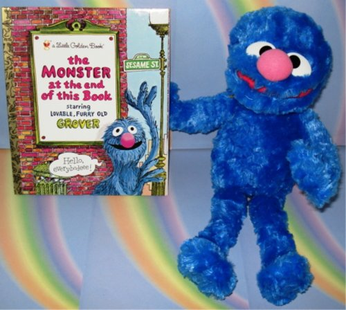 Stuffed Grover with Monster at the End of this Book book