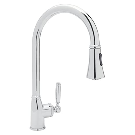 Rohl MB7928LMAPC-2 Michael Berman Kitchen Faucet with Pull Down Spray, Chrome