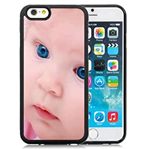 6 Phone cases, Child Baby Hat Eyes Blue Black iPhone 6 4.7 inch TPU cell phone case