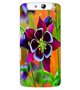 ColourCraft Beautiful Flower Design Back Case Cover for OPPO N1