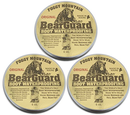 Bear Guard Original - Boot and Leather Waterproofing - Beeswax and Bear Grease - 3 Pack (Bear Mountain Boots compare prices)