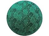 65cm Exercise Ball Cover, yoga ball cover, balance ball cover, birthing ball cover, 100% cotton - Emerald Paisley