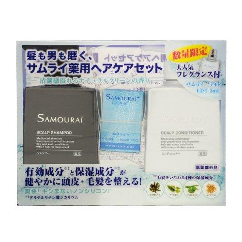サムライ SAMOURAI バスライン サムライ 薬用シャン プー&コンディショナー ミニ香水付セット