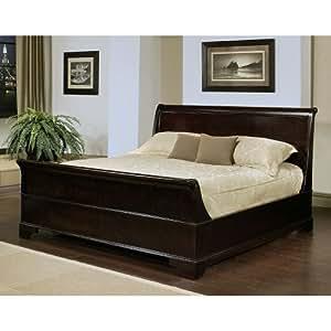 Amazon Sleigh Queen size Bed Home & Kitchen