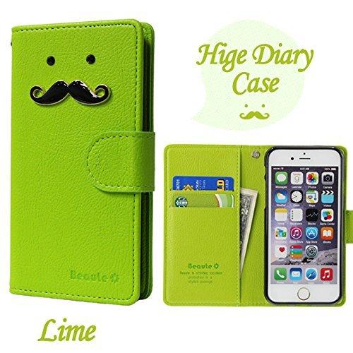 ROCOCO[AQUOS EVER SH-02J SH02J アクオス エバーSH-02J SIMフリー SH-M04 SH-M04-A UQ mobile AQUOS L AQUOS U SHV37 共用 Diary Case] 全機種ケース対応 ケース 手帳型 カバー 手帳 ダイアリー 収納 カードいれ シンプル Xperia Iphone Galaxy Optimus Aquos Arrows Regza らくらく MEDIAS ELUGA DisneyMobile isai Kyocera Digno HTC Huawei Google Ymobile Fujitsu Apple Asus スマートフォンケース機種対応 手帳ケース 人気 かわいい おすすめ 丈夫 収納 カード入れ Diary キャラクター 携帯 シンプル 無地 カラープール Color キャラクター ひげ 人気デザイン ひげ かわいい ひげ キャラクター Lime