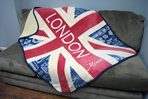 Mink Emotions - British Union Jack Luxury Throw Sherpa Blanket: LONDON (British Flag Car Seat Covers compare prices)