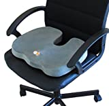 BEST CushionCare Memory Foam Seat Cushion- High Quality and Comfortable Coccyx Visco Elastic Foam for Orthopedic Use. Conforms and Molds Itself to the Body. Non Flattening Cushion for Indoor and Outdoor Use, Traveling, Driving, Car Seats, Office, Airplane Chairs and Many More. ★ Lifetime Guarantee Provided!
