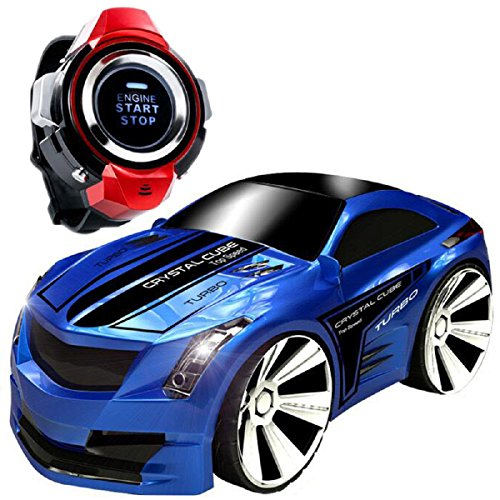 Voice Command Car+ Smart Watch, CEStore Non-toxic Environmental Anti-Scratches 2.4GHz Radio Control Voice-activated RC Car w/ Rechargeable Li-ion Battery, Dazzling Headlights and Cool Brakes-Blue (Car Remote Control Gasoline compare prices)