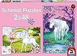 Schmidt-56120-Puzzle-Classique-Licorne-Ferique-2-X-48-Pices