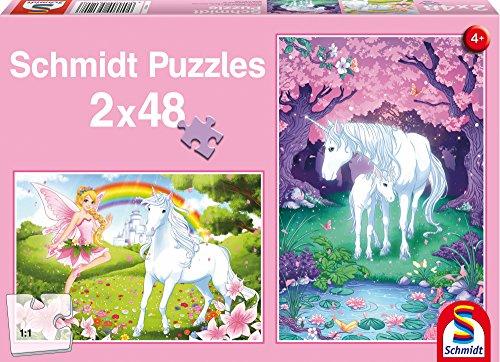 SCHMIDT Child 2 x 48 Unicorn Enchantment Puzzle (48-Piece)