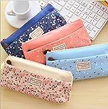 Micom Pastorable Canvas Multi-fuctional Pencil/pen Case Bag Pounch Cosmetic Makeup Bag;set of 4