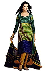 Saad Creations Women's Cotton Unstitched Dress Material_BLR1307_Multicolored_Freesize