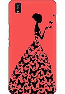 AMEZ designer printed 3d premium high quality back case cover for One Plus X (red princess)