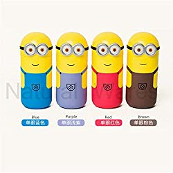 Kids MandiTM Lovely Minions Vacuum Bottles Cup Travel Office Students Funny Cups Thermos Mug flask 250ml Hight Quality Child Gifts