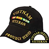 Vietnam Veteran Proudly Served Hat Black