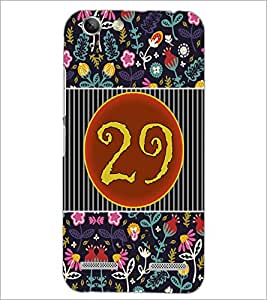 PrintDhaba Numerology Number 29 D-3118 Back Case Cover for LENOVO VIBE K5 PLUS (Multi-Coloured)