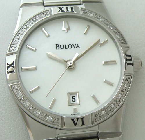 Price Comparisons Bulova Women's 96R009 Diamond Case Calendar Watch