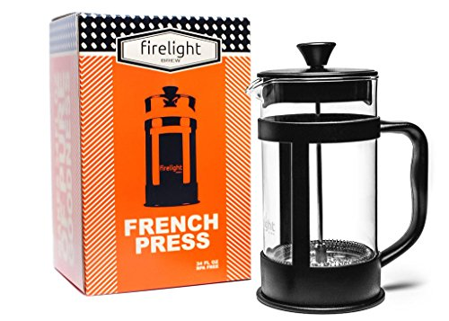 Firelight 8-cup French Press Coffee Maker, 34 oz. Black