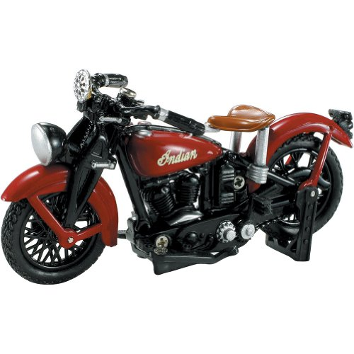 New Ray 1937 Indian Junior Scout Replica Motorcycle Toy - 1:32 Scale