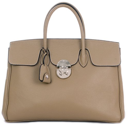 ROUVEN Taupe  &  Silver Jane 40 Tote Bag