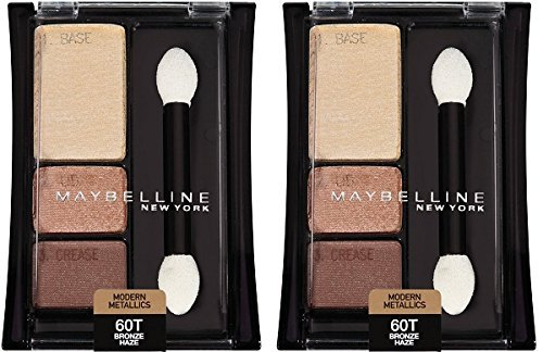 Maybelline New York Expert Wear Eyeshadow Trios, Modern Metallics 60T Bronze Haze, 0.13 Ounce (Pack of 2)