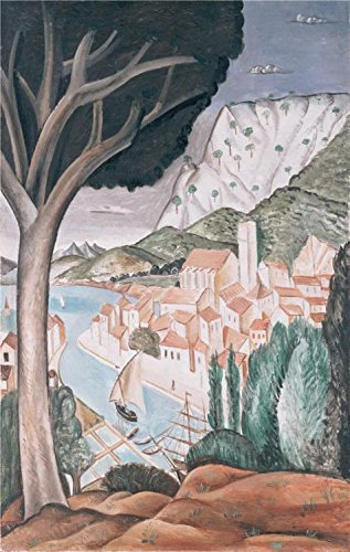 The Perfect Effect Canvas Of Oil Painting 'Martigues,1913 By Andre Derain' ,size: 24x38 Inch / 61x96 Cm ,this Vivid Art Decorative Canvas Prints Is Fit For Laundry Room Decor And Home Gallery Art And Gifts