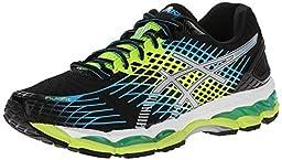 ASICS Men\'s Gel-Nimbus 17 Running Shoe,Onyx/White/Flash Yellow,8.5 M US