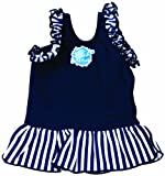 Splash About Kids Frou Frou Swimming Top - Navy Blue, Medium, 3-8 Months
