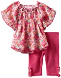 Little Lass Baby-Girls Infant 2 Piece Legging Set with Rouching