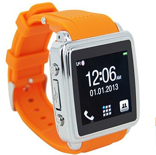 Bluetooth Smart Watch For Smart Phones For Android Phone With Orange Color