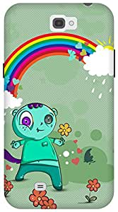 The Racoon Lean Happy Monsters hard plastic printed back case/cover for Samsung Galaxy Note 2