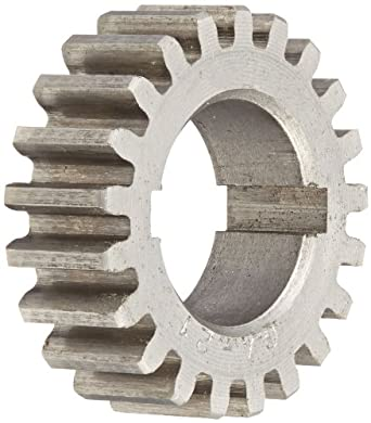 "Boston Gear GA21 Plain Change Gear, 14.5 Degree Pressure Angle, 20 Pitch, 0.625"" Bore, 21 Teeth, Steel"