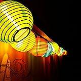 TOPBRIGHT® 10 LED Multi Color Indoor Outdoor Mini Oriental Style Nylon Lantern Plug-in String Lights