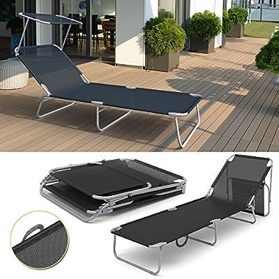 Sonnenliege Liege Alu Liegestuhl Gartenliege Strandliege Aluminium Anthrazit von Serina auf Gartenmöbel von Du und Dein Garten