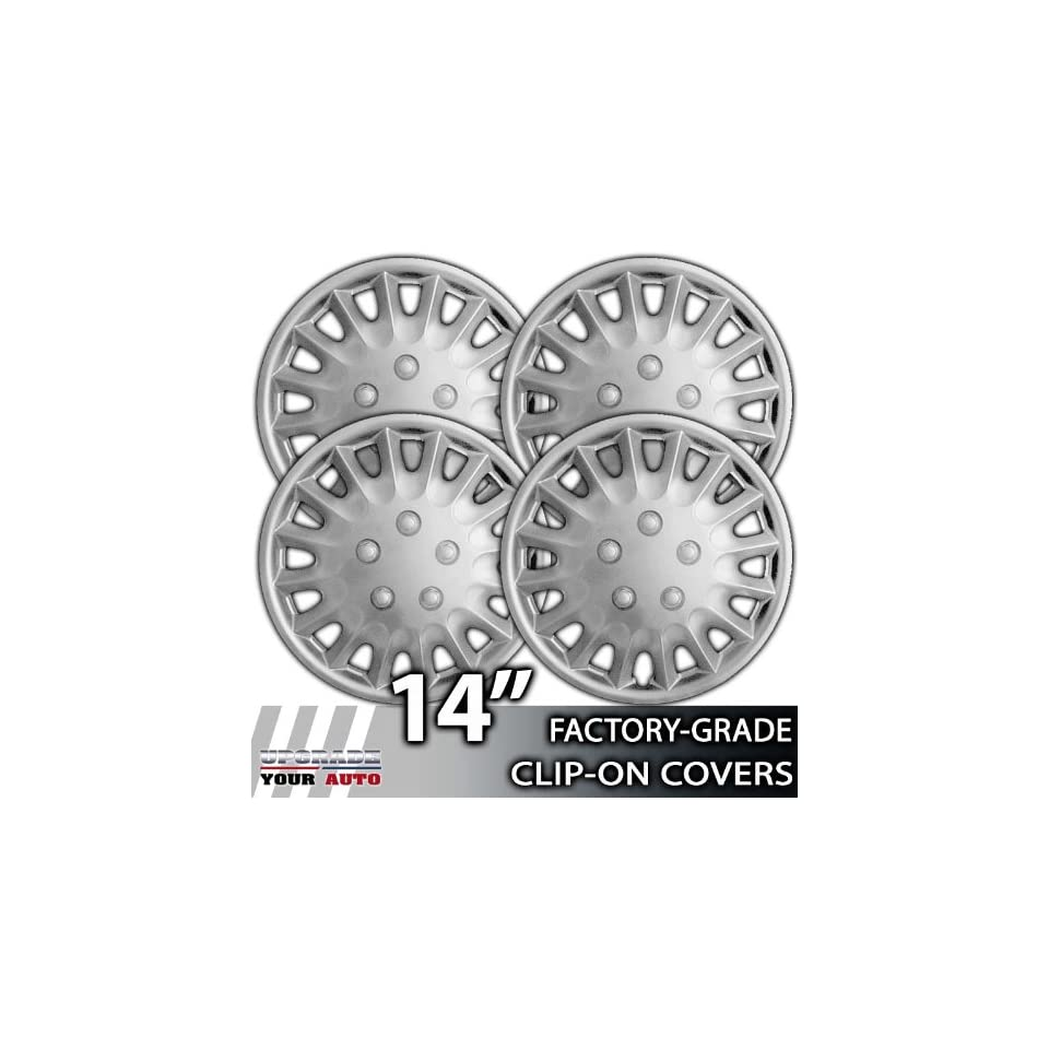 1995 1997 Oldsmobile Cutlass 14 Inch Silver Metallic Clip On Hubcap Covers