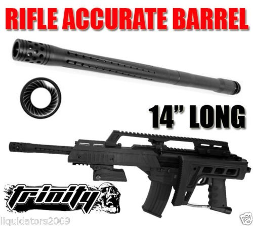 Trinity Paintball Accurate Barrel For Bt G36 Paintball Gun, Bt Slice Paintball Gun Barrel, Bt Omega Paintball Gun Barrel, Tippmann Cronus Paintball Gun Barrel, Bt Delta Paintball Gun Barrel, Bt Combat Paintball Gun Barrel, Tippmann X7 Paintball Gun Barrel
