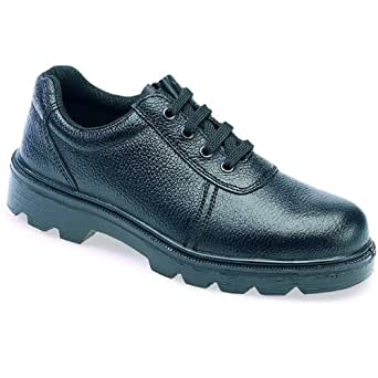 General Purpose LH380 High Quality Black Leather Unisex Gibson Safety Shoe With Steel Toe Caps (UK 9/EURO 43)