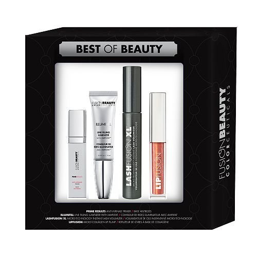 Fusion Beauty Best of Beauty In A Box 4 Pc Set (Lipfusion, Lashfusion XL, Illumifill, Prime Results) by Fusion Beauty