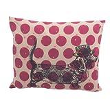 Ian Snow Dotty/ Black Dachshund Cushion Cover, Pink