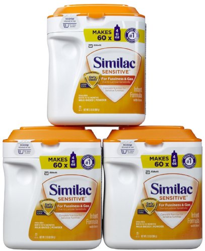 Similac Sensitive Baby Formula Powder 34 Oz 3 Pk