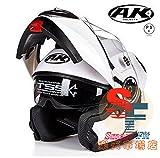 システムヘルメット フリップアップヘルメット バイクヘルメット 多色 人気商品 PSC規格品 男女通用 フルフェイスヘルメット ダブルシールド AK-919[商品5/L]