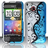 BLUE VINES Hard Plastic Design Matte Case for HTC Incredible 4G LTE 6410 (Verizon) [In Twisted Tech Retail Packaging]