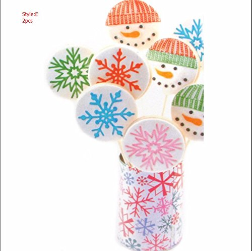 SHINA 3pcs Prints snowflake Mold CUPCake Decorating Tools Stencils Template Classic Fondant