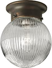 Progress Lighting P3599-20 1-Light Close To Ceiling Fixture, Antique Bronze